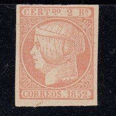 Sellos: 1852 EDIFIL 14* NUEVO CON CHARNELA. FALSO FILATELICO. ISABEL II (220). Lote 195043271