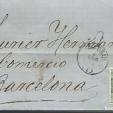 Sellos: ESPAÑA.AÑO 1873,EDIFIL Nº 133 .DOS CARTAS COMPLETAS DIRIGIDAS DE MADRD A BARCELONA.. Lote 195075721