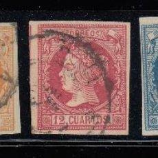Sellos: 1860 EDIFIL 51/56 USADOS. SIN EDIFIL 54. ISABEL II (220). Lote 195084766