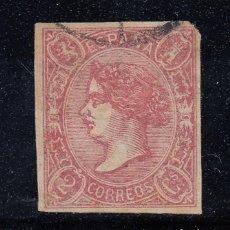 Sellos: 1865 EDIFIL 69 USADO. ISABEL II (220). Lote 195091227