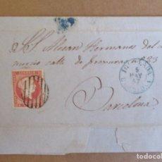 Sellos: CIRCULADA Y ESCRITA 1857 DE IGUALADA A BARCELONA . Lote 195099516
