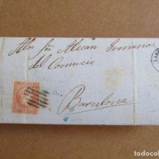 Sellos: CIRCULADA Y ESCRITA NO HAY CARGAS 1858 DE TARRAGONA A BARCELONA . Lote 195100371