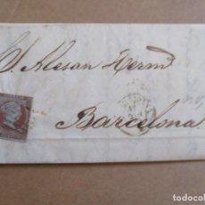 Sellos: CIRCULADA Y ESCRITA 1855 DE TARRAGONA A BARCELONA . Lote 195106551