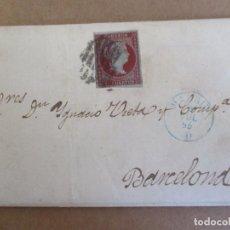 Sellos: CIRCULADA Y ESCRITA 1855 DE MADRID A BARCELONA . Lote 195106807