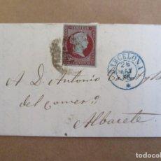 Sellos: CIRCULADA Y ESCRITA 1855 DE BARCELONA A ALBACETE. Lote 195108458