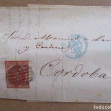 Sellos: CIRCULADA Y ESCRITA 1854 DE MADRID A CORDOBA. Lote 195109476