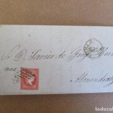 Sellos: CIRCULADA Y ESCRITA 1856 DE SEVILLA A ALMENDRALEJO EXTREMADURA. Lote 195127506