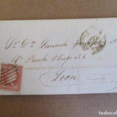 Sellos: CIRCULADA 1857 DE PONTEVEDRA A LEON. Lote 195127690