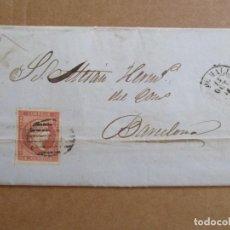 Sellos: CIRCULADA Y ESCRITA 1858 DE PALMA DE MALLORCA BALEARES A BARCELONA . Lote 195128261