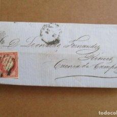 Sellos: CIRCULADA 1856 A RIOSECO CUENCA DE CAMPOS. Lote 195128722