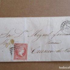 Sellos: CIRCULADA 1857 DE VALLADOLID A RIOSECO CUENCA DE CAMPOS. Lote 195128932