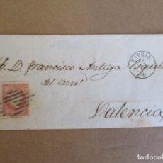 Sellos: CIRCULADA 1857 DE MADRID A VALENCIA. Lote 195129161