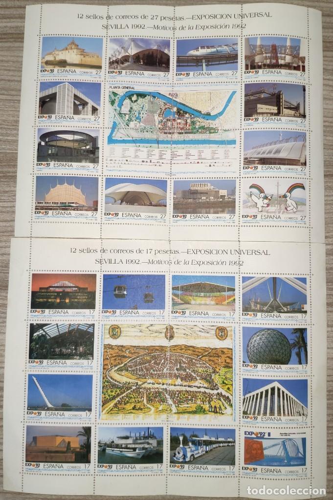 SELLOS SEVILLA EXPO 92, SIN CIRCULAR (Sellos - España - Isabel II de 1.850 a 1.869 - Nuevos)