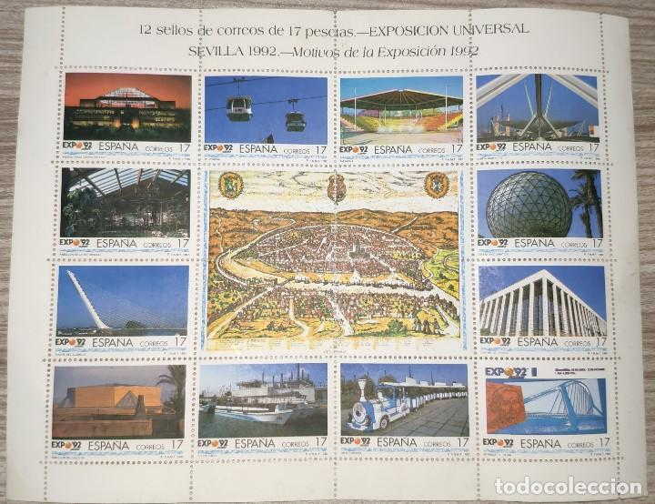 Sellos: Sellos Sevilla Expo 92, sin circular - Foto 2 - 195134688