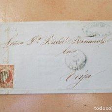 Sellos: ENVUELTA CON SELLO DE 4 CUARTOS, ECIJA.. Lote 195182633
