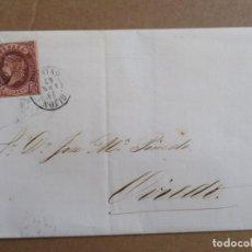 Sellos: CIRCULADA 1863 DE GIJON A OVIEDO ASTURIAS. Lote 195249718