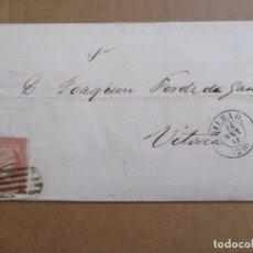 Sellos: CIRCULADA 1858 DE BILBAO A VITORIA. Lote 195284741