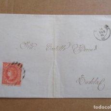 Sellos: CIRCULADA 1864 DE VALENCIA A TUDELA NAVARRA. Lote 195284821