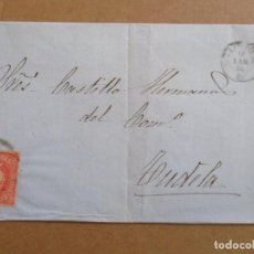 Sellos: CIRCULADA 1864 DE VALENCIA A TUDELA NAVARRA. Lote 195285127