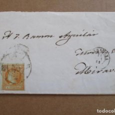 Sellos: CIRCULADA 1862 DE TARRAGONA A MORA DE EBRO MIRAVET. Lote 195291388