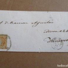 Sellos: CIRCULADA 1862 DE TARRAGONA A MORA DE EBRO MIRAVET. Lote 195291491