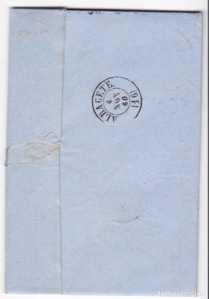 Sellos: F8-10- Carta Completa BARCELONA- ALBACETE 1860 - Foto 2 - 195324790