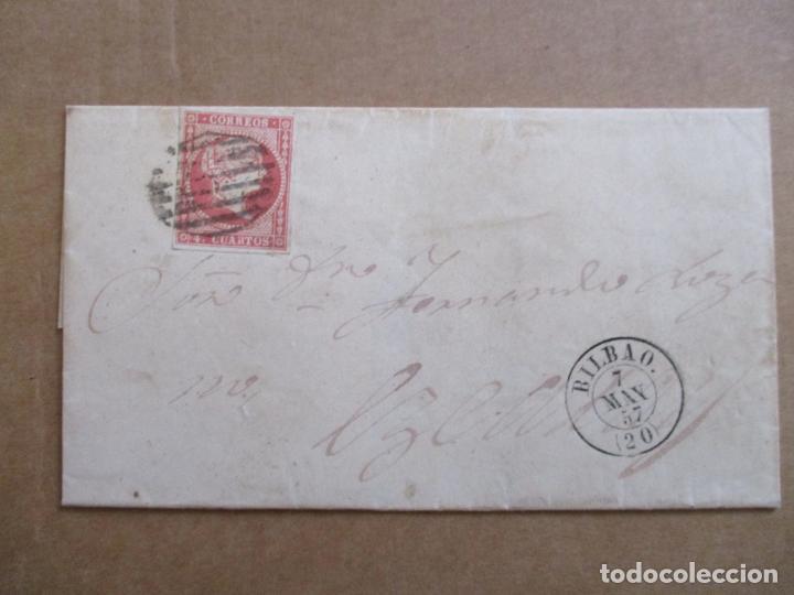 CIRCULADA 1857 DE BILBAO A EZCARAY RIOJA (Sellos - España - Isabel II de 1.850 a 1.869 - Cartas)