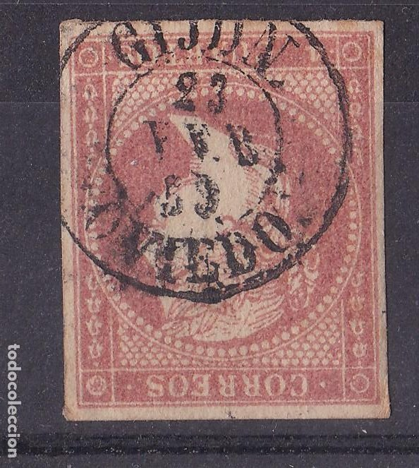LL5- CLÁSICOS EDIFIL 48 USADO FECHADOR GIJON OVIEDO (Sellos - España - Isabel II de 1.850 a 1.869 - Usados)
