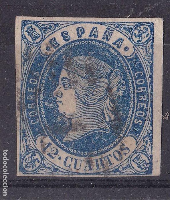LL5- CLÁSICOS EDIFIL 59 USADO , DEFECTO IMPRESIÓN (Sellos - España - Isabel II de 1.850 a 1.869 - Usados)