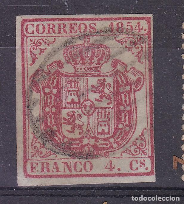 LL5- CLÁSICOS EDIFIL 33 USADO PARRILLA VERDE (Sellos - España - Isabel II de 1.850 a 1.869 - Usados)