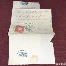 Sellos: TARRASA. 1856, CARTA MATASELLOS MUY LIMPIOS. Lote 195482107
