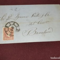 Sellos: BARCELONA 1859, CARTA. Lote 195482183