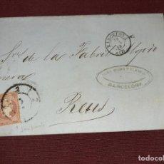 Sellos: BARCELONA A REUS. MATASELLO DE LLEGADA A REUS. MARQUILLA COMERCIAL. Lote 195482221
