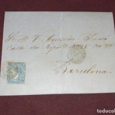 Sellos: VINAROZ, CASTELLÓN. CARTA CIRCULADA. Lote 195514762