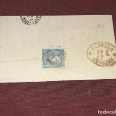 Sellos: BARCELONA. SOBRE CIRCULADO A LA MARQUESA DEL VALLE DE RIBAS. Lote 195514856