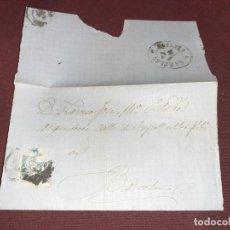 Sellos: SOBRE. CARTA CLÁSICA DE ISABEL II. BARCELONA. Lote 195514982