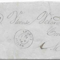 Sellos: ASTURIAS. EDIFIL Nº 52.ENVUELTA DE LUARCA A SALAS. 1860. Lote 195617392