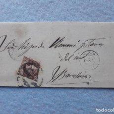Sellos: CARTA COMPLETA. MADRID - BARCELONA. SELLO ISABEL II 4 CUARTOS. ESCRITA EL 18 DE NOVIEMBRE DE 1862. Lote 195756358
