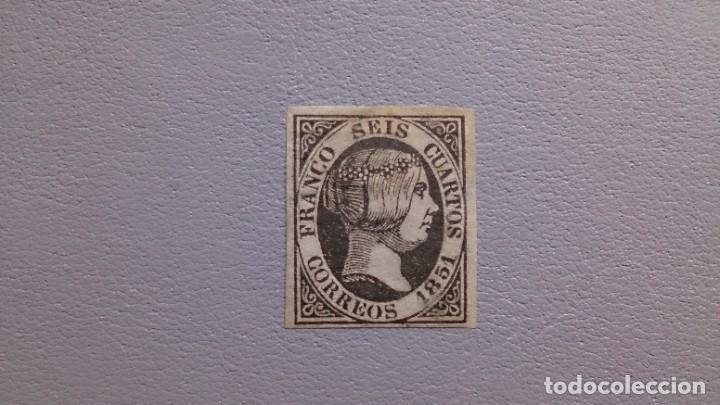 ESPAÑA - 1851 - ISABEL II - EDIFIL 6 - MH* - NUEVO - VALOR CATALOGO 375€. (Sellos - España - Isabel II de 1.850 a 1.869 - Nuevos)