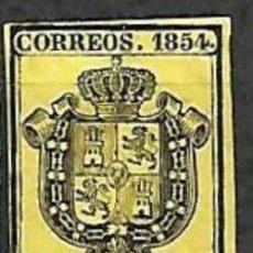 Timbres: EDIFIL Nº28* NEGRO S/AMARILLO (1/2O). Lote 195983138