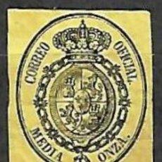 Timbres: EDIFIL Nº35* NUEVO NEGRO S/AMARILLO 1/2O.. Lote 195984485