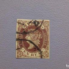 Sellos: ESPAÑA - 1862 - ISABEL II - EDIFIL 61 - MATASELLOS RUEDA DE CARRETA.. Lote 196188986