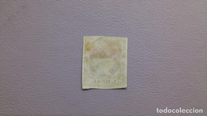 Sellos: ESPAÑA - 1868-1861 - ISABEL II - EDIFIL 55 - MH* - NUEVO CON GOMA Y FIJASELLOS - VALOR CATALOGO 385€ - Foto 2 - 196224788