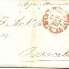 Sellos: CARTA PREFILATELIA 1840. MÁLAGA A BARCELONA. CORREO MARÍTIMO. VAPOR MERCURIO. Lote 196935178