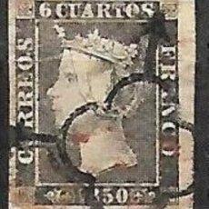 Timbres: EDIFIL Nº 1 USADO 6CU. NEGRO MATASELLOS ARAÑA NEGRA Y ROJO. Lote 197128640