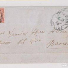 Sellos: CARTA ENTERA. VERGARA, GUIPÚZCOA. PAÍS VASCO. 1856. Lote 197224756