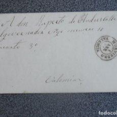 Sellos: CARTA COMPLETA AÑO 1869 DESDE TORRES TORRES A VALENCIA FECHADOR MURVIEDRO EDIFIL 98 CIERRE CARTA. Lote 197267785