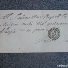 Sellos: CARTA COMPLETA AÑO 1868 NAVAJAS CON FECHADOR DE SEGORBE CASTELLÓN A VALENCIA EDIFIL 98 . Lote 197295737