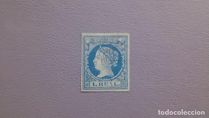 ESPAÑA - 1860-1861 - ISABEL II - EDIFIL 55 - MH* - NUEVO - MARQUILLADO - LUJO - VALOR CATALOGO 385€. (Sellos - España - Isabel II de 1.850 a 1.869 - Nuevos)
