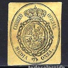 Sellos: 1855 ESPAÑA ESCUDO - SERVICIO OFICIAL EDIFIL 35 MH* - NUEVO CON FIJASELLOS. Lote 197767933